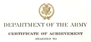 Army Certificate Of Achievement Citation Examples Inside Best Army Certificate Of Appreciation Template