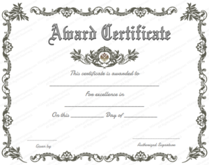 Award Certificate (Royal, #951) In 2020 | Certificate Of Pertaining To 11+ Printable Certificate Of Recognition Templates Free