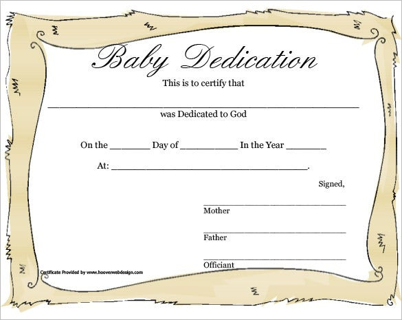 Baby Dedication Certificate Template 21+ Free Word, Pdf Inside Baby Dedication Certificate Template
