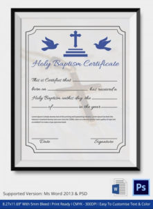 Baptism Certificate 19+ Free Word, Pdf Documents Download Regarding Christian Baptism Certificate Template