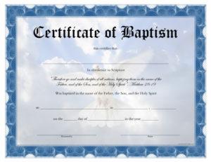Baptism Certificate Free Printable Allfreeprintable Inside Quality Baptism Certificate Template Download