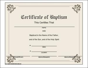 Baptism Certificate Printable Certificate   Printable Regarding Free Christian Baptism Certificate Template