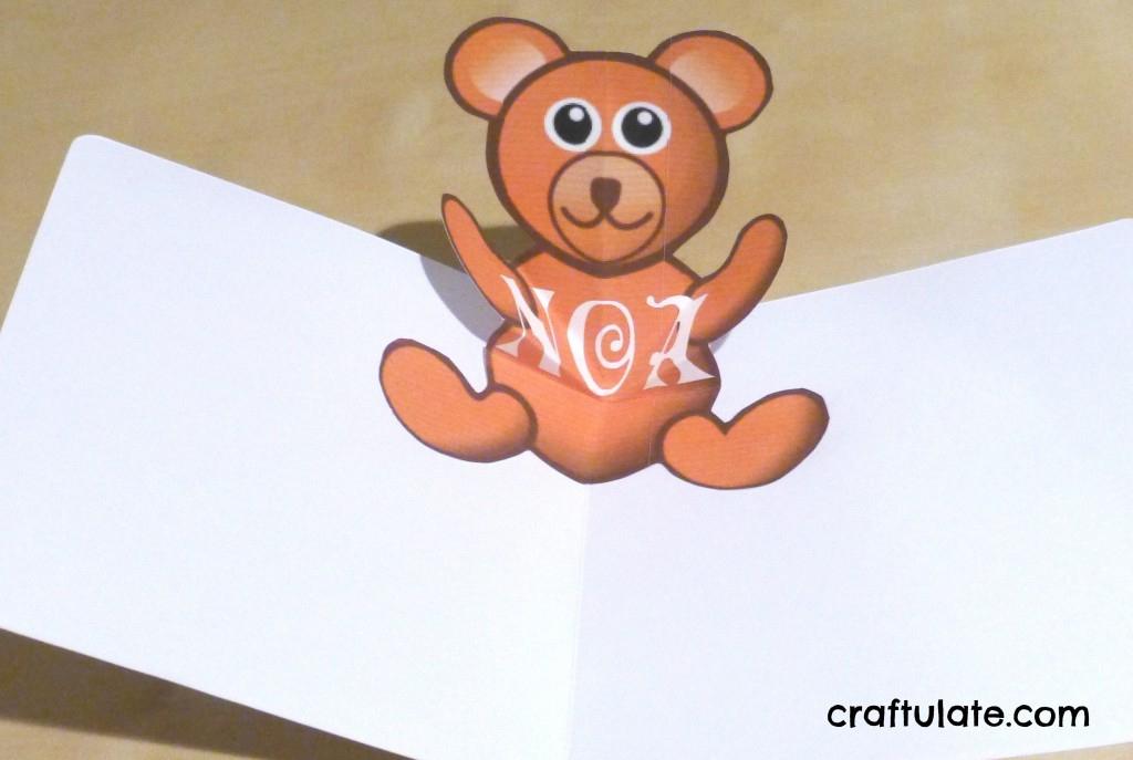 Bear Pop Up Card Tutorial | Craftulate With Teddy Bear Pop Up Card Template Free