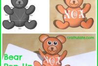 Bear Pop Up Card Tutorial | Pop Up Card Templates, Card Throughout Teddy Bear Pop Up Card Template Free