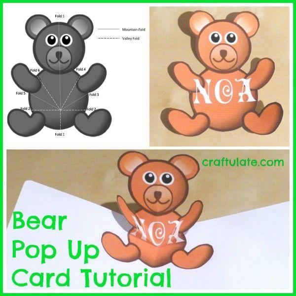 Bear Pop Up Card Tutorial | Pop Up Card Templates, Card Throughout Teddy Bear Pop Up Card Template Free