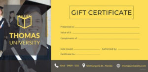 Best Gift Certificate Templates 38+ Free Word, Pdf Throughout Free Graduation Gift Certificate Template Free