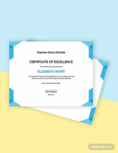 Best Performance Certificate Template Word (Doc) | Psd With Best Performance Certificate Template