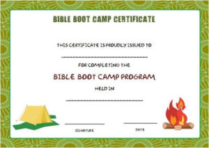 Bible Boot Camp Certificate | Certificate Templates Pertaining To Boot Camp Certificate Template