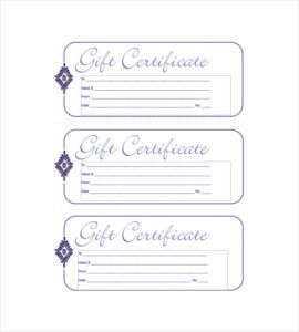 Blank Blue Small Business Gift Certificate Template Within Small Certificate Template