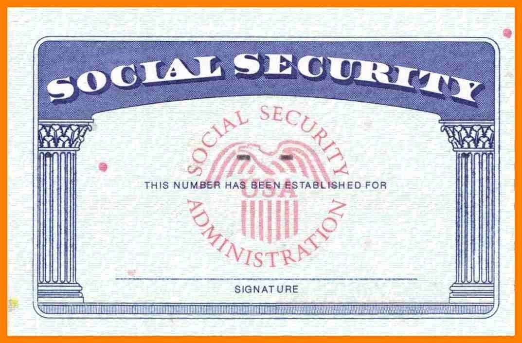 Blank Social Security Card Template Download Blank Social Pertaining To Free Blank Social Security Card Template Download