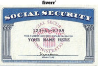 Blank Social Security Card Template Download Certificate Regarding 11+ Fake Social Security Card Template Download