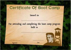 Boot Camp Certificate Camouflage | Certificate Templates Regarding Printable Boot Camp Certificate Template