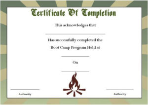 Boot Camp Certificate Of Completion | Certificate Templates With Regard To Printable Boot Camp Certificate Template