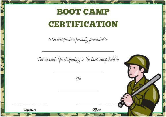 Boot Camp Certificate Template | Certificate Templates Intended For Printable Boot Camp Certificate Template