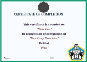 Boot Camp Completion Certificate | Certificate Templates Within Boot Camp Certificate Template