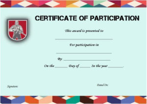Boot Camp Participation Certificate | Certificate Templates Within Boot Camp Certificate Template
