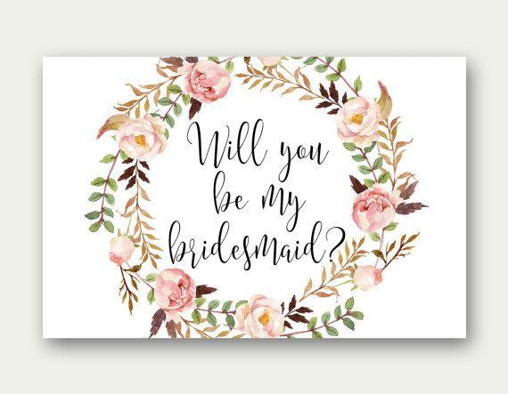 Bridesmaid Printable Will You Be My Bridesmaid Bridesmaid Regarding Will You Be My Bridesmaid Card Template