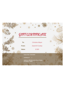 Business Gift Certificate Template Pdf Templates | Jotform Intended For 11+ Free Photography Gift Certificate Template