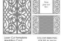 Card Template Swirls Stencil Scroll Door Gate Folds Wedding For Quality Silhouette Cameo Card Templates