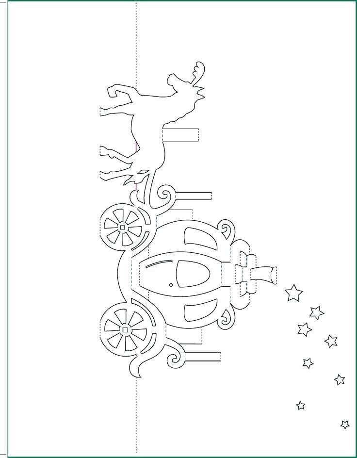 Carriage Pop Up Card Free Paper Craft Template Download Regarding Pop Up Wedding Card Template Free