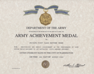 Certificate Of Achievement Army Template Army Achievement Within Best Army Certificate Of Appreciation Template