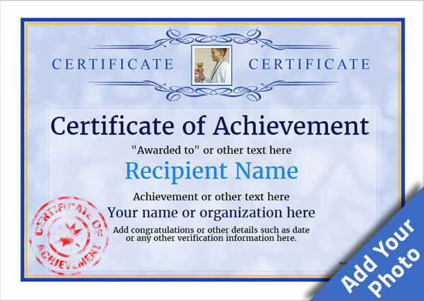 Certificate Of Achievement Free Templates Easy To Use Throughout Quality Certificate Of Accomplishment Template Free