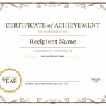 Certificate Of Achievement In Best Word Template Certificate Of Achievement