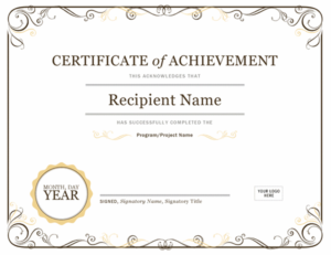 Certificate Of Achievement Inside Certificate Of Attainment Template