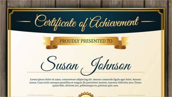 Certificate Of Achievement Template 10+ Pdf, Word, Ai With Regard To Certificate Of Accomplishment Template Free