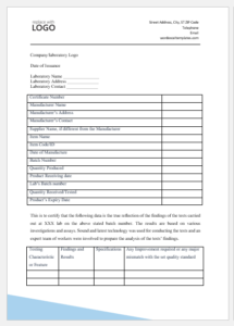 Certificate Of Analysis Templates For Ms Word | Word & Excel Intended For Quality Certificate Of Analysis Template
