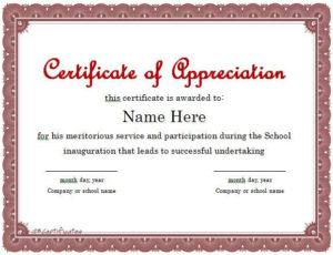 Certificate Of Appreciation 01 | Certificate Of Pertaining To Best In Appreciation Certificate Templates