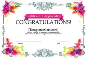 Certificate Of Appreciation Templates Design In Ms Word Inside Free Certificate Templates For Word 2007