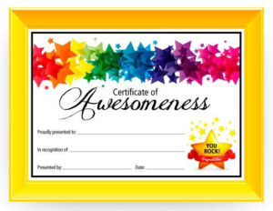 Certificate Of Awesomeness Dabbles & Babbles | Free Throughout Free Printable Certificate Templates For Kids