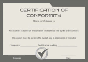 Certificate Of Conformity Sample Templates | Printable With Regard To Printable Certificate Of Conformance Template Free