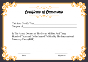 Certificate Of Ownership Template (1) Templates Example Intended For Ownership Certificate Template