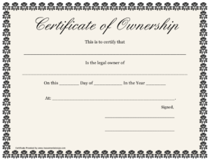 Certificate Of Ownership Template Download Printable Pdf Intended For Professional Ownership Certificate Template