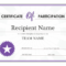 Certificate Of Participation Within Professional Certificate Of Participation Template Doc