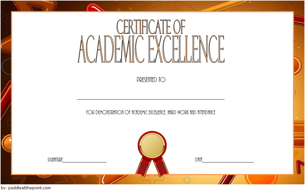 Certificate Of Recognition For Academic Excellence Template Pertaining To Academic Award Certificate Template