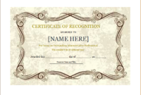 Certificate Of Recognition Template For Word   Document Hub Intended For Award Certificate Templates Word 2007