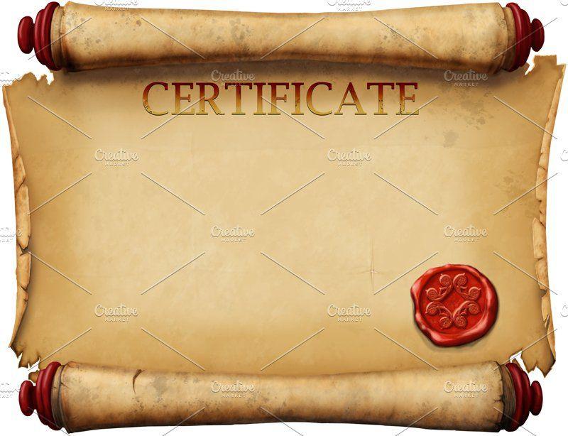 Certificate Scroll Template In 2020 | Scroll Templates, Wax Pertaining To Certificate Scroll Template