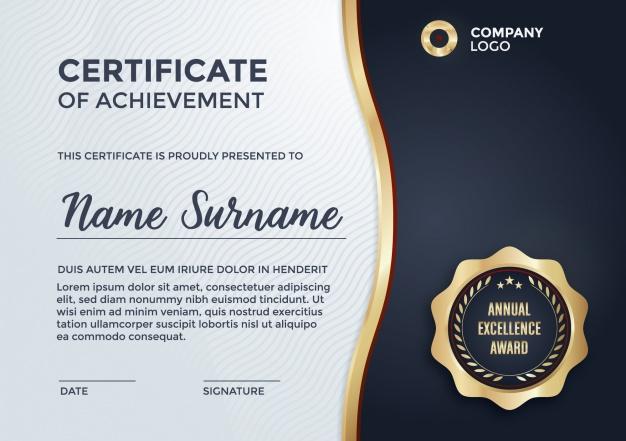 Certificate Template Design | Kostenlose Vektor With Regard To Design A Certificate Template