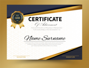 Certificate Template Size (9) Templates Example In Certificate Template Size