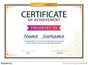 Certificate Template,Diploma Layout,A4 Size Illustration Intended For Quality Certificate Template Size