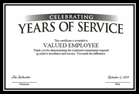 """Certificate To """"Valued Employee?""""   Certificate Templates Intended For Free Employee Anniversary Certificate Template"""