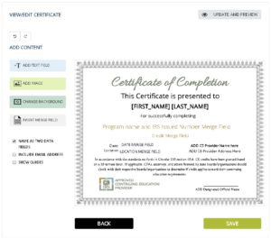 Certificates Archives Simplecert With Regard To Quality Continuing Education Certificate Template