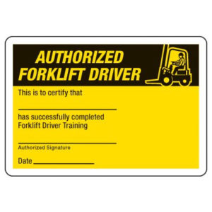 Certification Photo Wallet Cards Authorized Forklift Driver With Regard To 11+ Forklift Certification Card Template