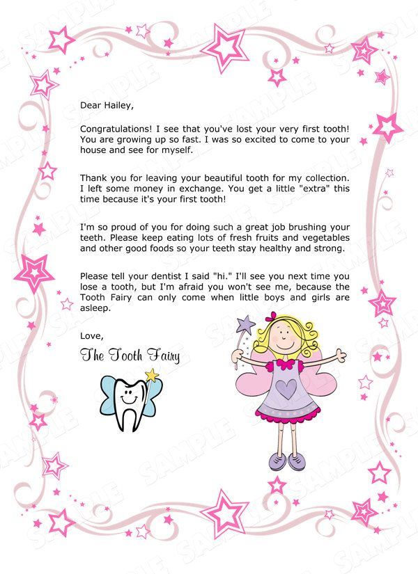 Children'S Personalized Tooth Fairydianesdigitaldesigns Throughout Printable Tooth Fairy Certificate Template Free