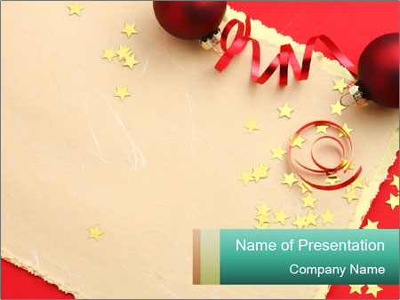 Christmas Greeting Card For Friend Powerpoint Template & Infographics Slides Inside Greeting Card Template Powerpoint