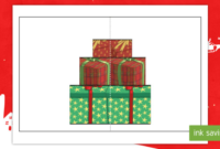 Christmas Present Pop Up Card Gift Card Template Throughout Throughout Present Card Template
