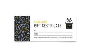 Christmas Wishes Gift Certificate Template Design Pertaining To Gift Certificate Template Indesign